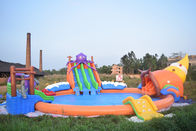 20m Giant Portable Inflatable Water Park Slide With Pool For Commercial Use