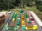0.9mm PVC Tarpaulin Giant Inflatable Obstacle Course 63.5m L *25m W
