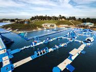 160mL*69mW Commercial Inflatable Aqua Park For Lake Sea