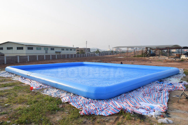 0.9mm PVC Tarpaulin Giant Inflatable Rectangular Water Swimming Pools For Water Park